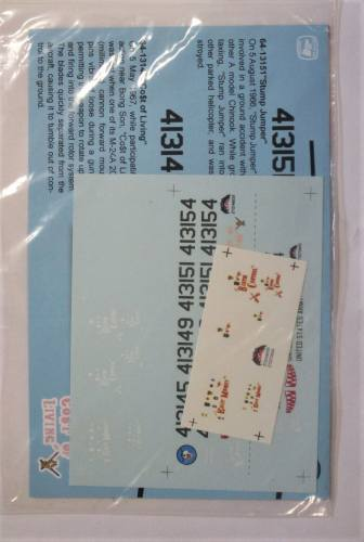 DISCOUNT DECALS 1/72 2782. ZOTZ THE ACH-47A CHINOOK IN VIETNAM 1/48 and 1/72