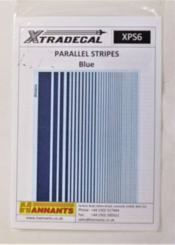 XTRADECAL  2792. XPS6 PARALLEL STRIPES BLUE