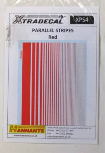 XTRADECAL  2793. XPS4 PARALLEL STRIPES RED