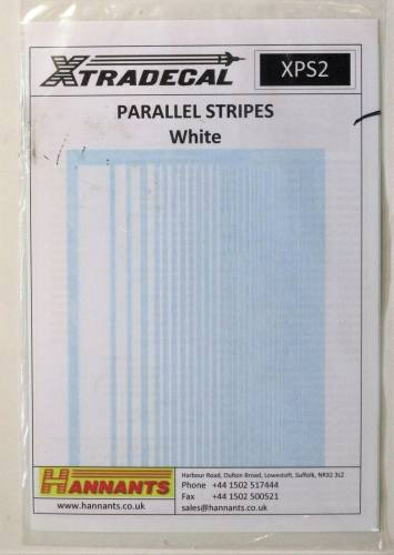 XTRADECAL  2794. XPS2 PARALLEL STRIPES WHITE