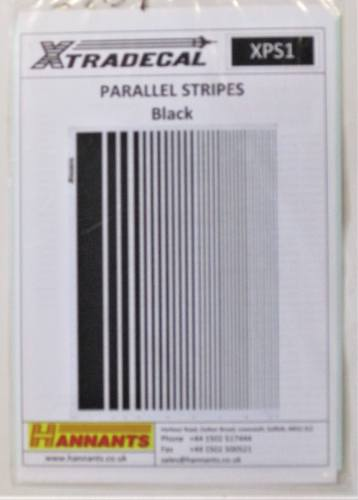 XTRADECAL  2801. XPS1 PARALLEL STRIPES BLACK