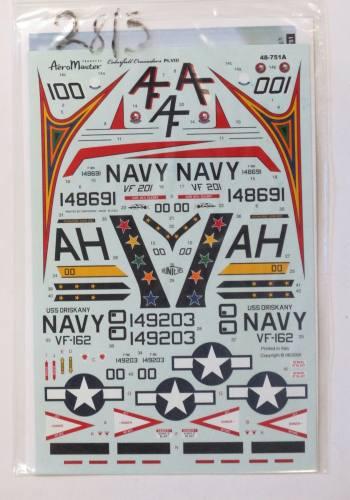 AEROMASTER 1/48 2813A. 48751A PT. VIII COLOURFUL CRUSADERS F-8