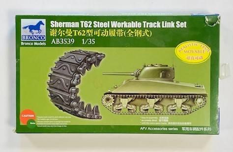 BRONCO 1/35 3539 SHERMAN T62 STEEL WORKABLE TRACK LINK SET