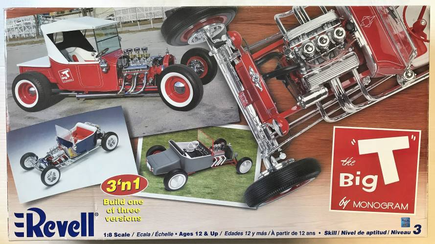 REVELL 1/8 2617 THE BIG T RAGTOP  UK SALE ONLY