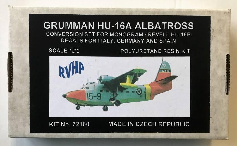 RVHP 1/72 72160 GRUMMAN HU-16A ALBATROSS CONVERSION SET