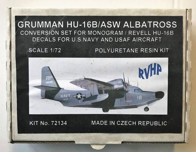 RVHP 1/72 72134 GRUMMAN HU-16B/ASW ALBATROSS CONVERSION SET