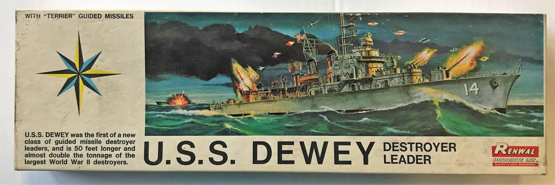 RENWAL 1/500 610 U.S.S. DEWEY DESTROYER LEADER