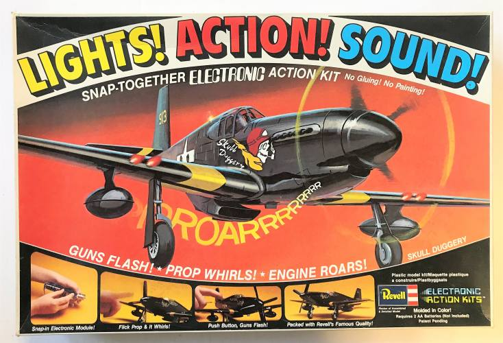 REVELL 1/40 8005 LIGHTS  ACTION  SOUND  P-51 MUSTANG SKULL DUGGERY
