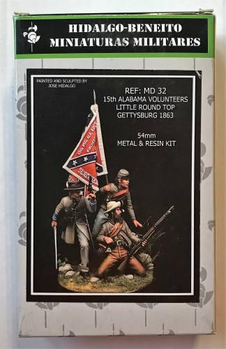 HIDALGO-BENEITO  54MM MD32 15TH ALABAMA VOLUNTEERS LITTLE ROUND TOP GETTYSBERG 1863