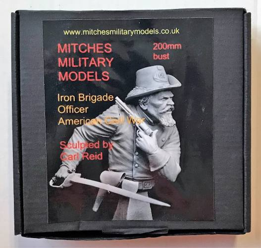 MITCHES MILITARY MODELS 200MM IRON BRIGADE OFFICER AMEICAN CIVIL WAR BUST