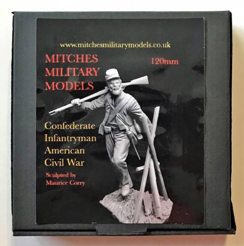 MITCHES MILITARY MODELS 120MM CONFEDERATE INFANTRYMAN AMERICAN CIVIL WAR