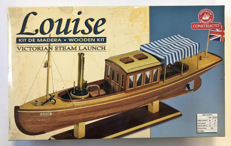 CONSTRUCTO  1/26 VICTORIAN STEAM LAUNCH LOUISE  WOODEN KIT