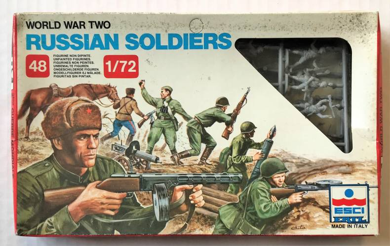 ESCI 1/72 203 WWII RUSSIAN SOLDIERS