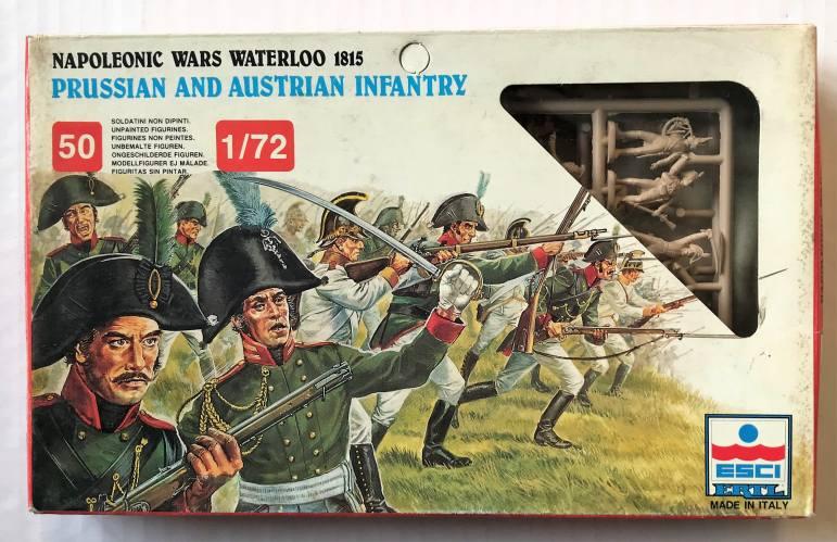 ESCI 1/72 226 NAPOLEONIC WARS WATERLOO 1815 PRUSSIAN   AUSTRIAN INFANTRY