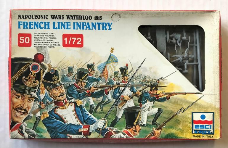 ESCI 1/72 227 NAPOLEONIC WARS WATERLOO 1815 FRENCH LINE INFANTRY