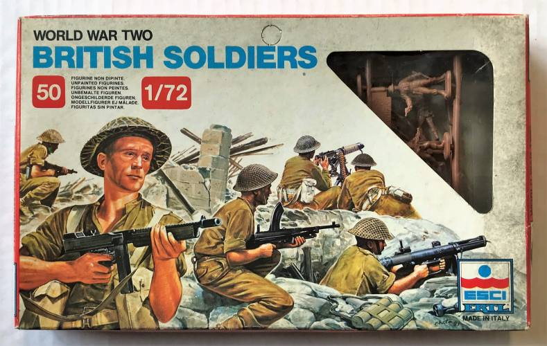ESCI 1/72 200 WWII BRITISH SOLDIERS