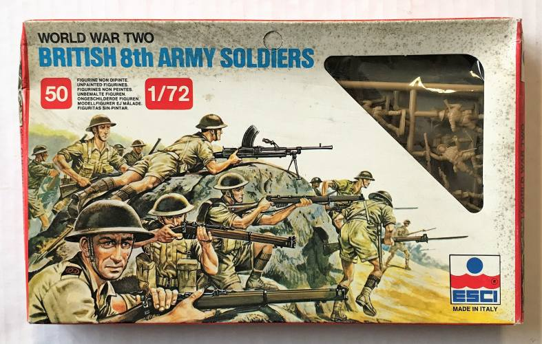 ESCI 1/72 207 WWII BRITISH 8TH ARMY SOLDIERS