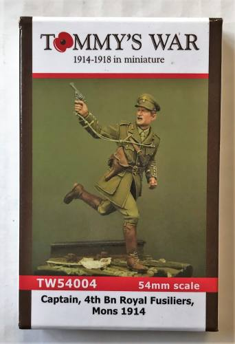 TOMMYS WAR 54MM 54004 CAPTAIN 4BN ROYAL FUSILIERS MONS 1914