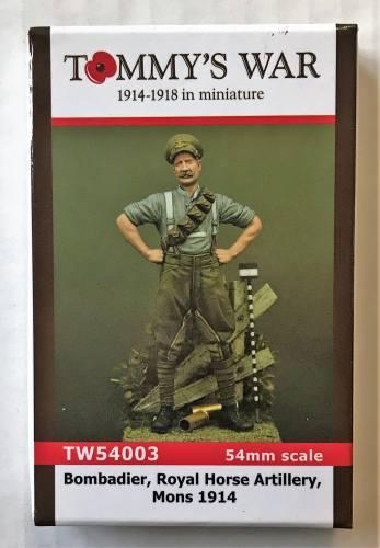 TOMMYS WAR 54MM 54003 BOMBADIER ROYAL HORSE ARTILLERY MONS 1914