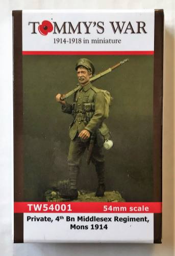 TOMMYS WAR 54MM 54001 PRIVATE 4TH BN MIDDLESEX REGIMENT MONS 1914