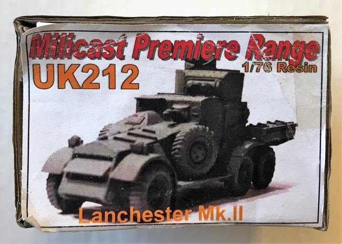 MILICAST  1/76 UK212 LANCHESTER MK.II