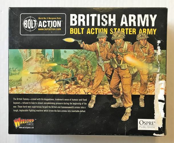 WARLORD  BRITISH ARMY BOLT ACTION STARTER ARMY