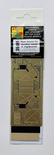 ABER 1/35 35A91 REAR BOXES FOR TANKS AND JAGDPANTHER PHOTO ETCH