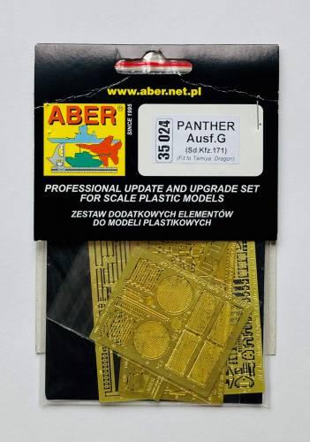 ABER 1/35 35024 PANTHER AUSF.G SD.KFZ.171 PHOTO ETCH FOR TAMIYA DRAGON
