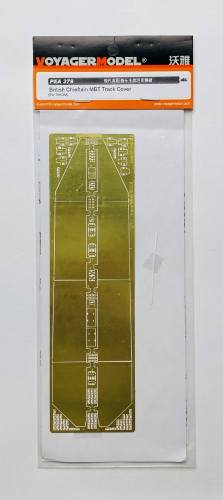 VOYAGER 1/35 PEA 378 BRITISH CHIEFTAIN MBT TRACK COVER PHOTO ETCH FOR TAKOM
