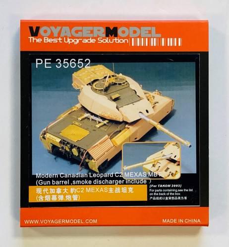 VOYAGER 1/35 35652 CANADIAN LEOPARD C2 MEXAS MBT GUN BARREL SMOKE DISCHARGER INCLUDED FOR TAKOM 2003