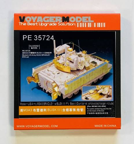 VOYAGER 1/35 35724 M3A3 BRADLEY W/BUSK III IFV BASIC GUN BARREL SMOKE DISCHARGER INCLUDED FOR MENG SS-006