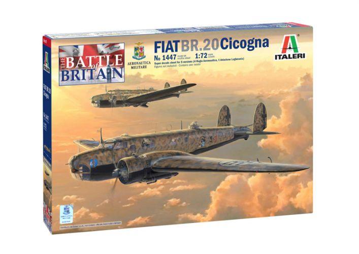 ITALERI 1/72 1447 FIAT BR.20 CICOGNA BATTLE OF BRITAIN DECALS FOR 5 VERSIONS