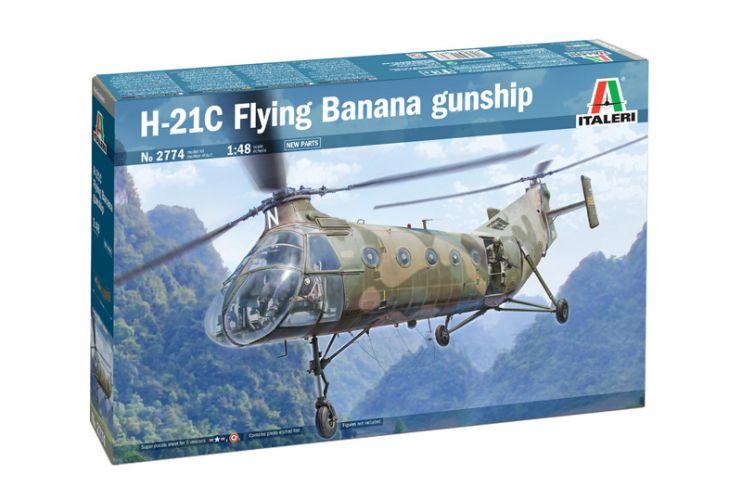 ITALERI 1/48 2774 H-21C FLYING BANANA GUNSHIP