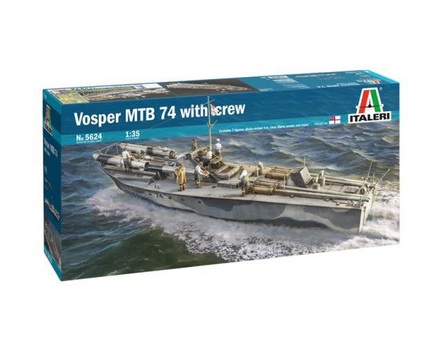 ITALERI 1/35 5624 VOSPER MTB 74 WITH CEW  UK SALE ONLY