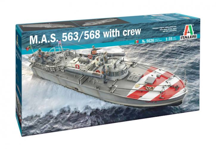 ITALERI 1/35 5626 M.A.S. 563/568 WITH CREW  UK SALE ONLY