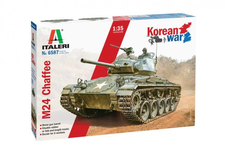 ITALERI 1/35 6587 M24 CHAFFEE KOREAN WAR