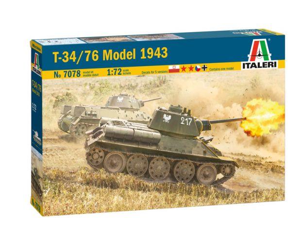 ITALERI 1/72 7078 T-34/76 MODEL 1943