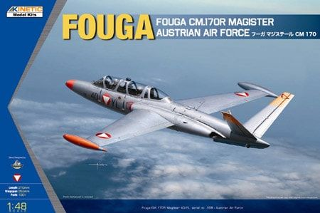 KINETIC 1/48 48059 FOUGA CM.170 MAGISTER AUSTRIAN AIR FORCE