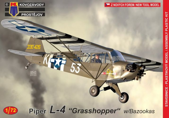 KP 1/72 0190 PIPER L-4 GRASSHOPPER WITH BAZZOKAS