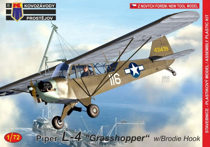 KP 1/72 0191 PIPER L-4 GRASSHOPPER WITH BRODIE HOOK
