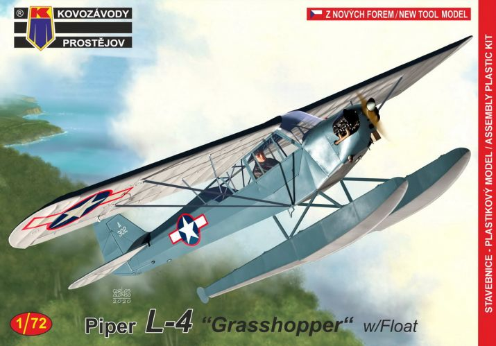 KP 1/72 0192 PIPER L-4 GRASSHOPPER WITH FLOATS