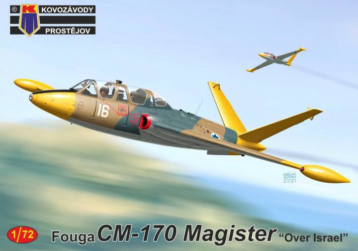 KP 1/72 0243 FOUGA CM-170 MAGISTER OVER ISRAEL