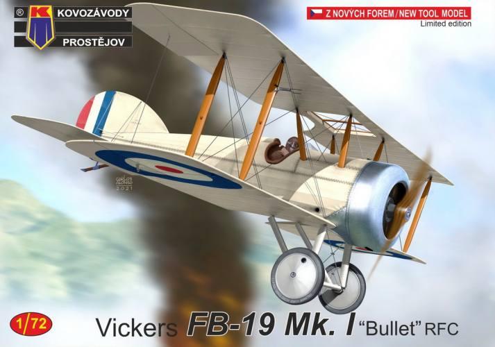 KP 1/72 0249 VICKERS FB-19 MK.I BULLET RFC