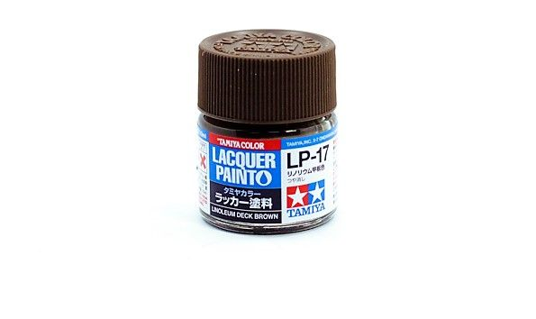 TAMIYA  82117 LP-17 LINOLEUM DECK BROWN LACQUER PAINT  UK SALE ONLY