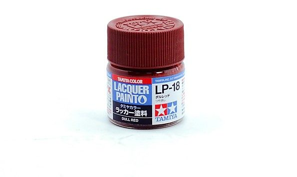 TAMIYA  82118 LP-18 DULL RED LACQUER PAINT  UK SALE ONLY