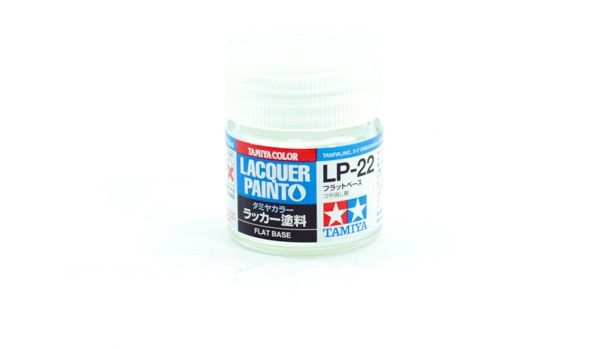 TAMIYA  82122 LP-22 FLAT BASE LACQUER PAINT  UK SALE ONLY