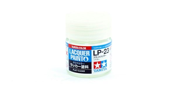 TAMIYA  82123 LP-23 FLAT CLEAR LACQUER PAINT  UK SALE ONLY