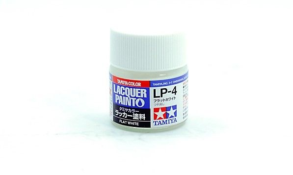 TAMIYA  82104 LP-4 FLAT WHITE LACQUER PAINT  UK SALE ONLY