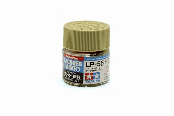 TAMIYA  82155 LP-55 DARK YELLOW 2 LACQUER PAINT  UK SALE ONLY