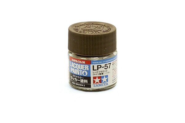 TAMIYA  82157 LP-57 RED BROWN 2 LACQUER PAINT  UK SALE ONLY